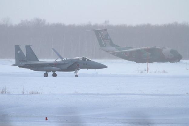 F-15J 305sq 828とC-1 402sq 008