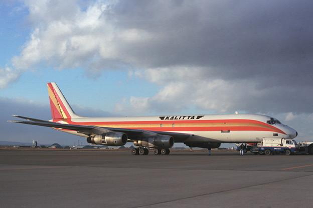 DC-8-55F N807CK Kalitta CTS 1989秋