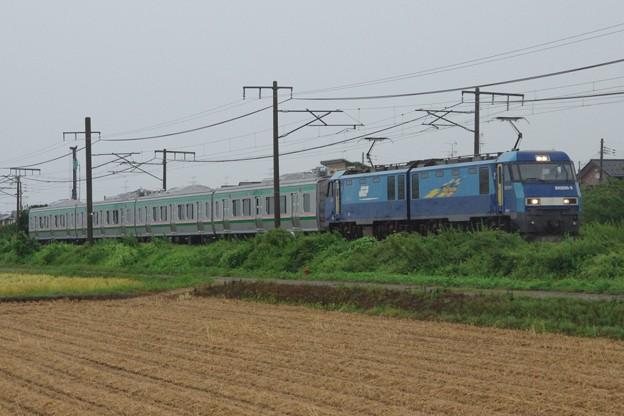 EH200 5牽引 E721系1000番台中間車4B 甲種輸送