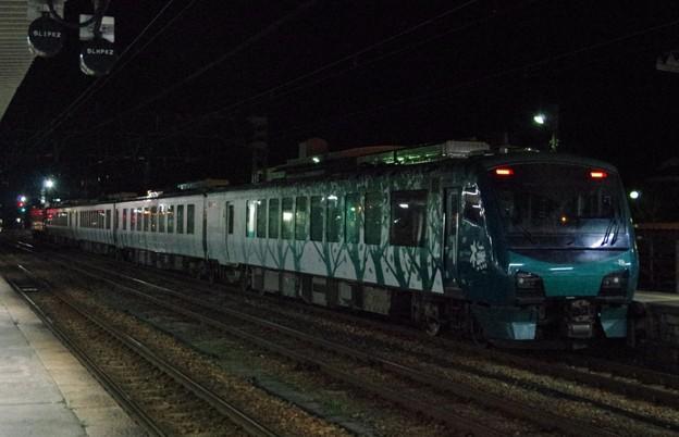 """EF81 136+HB-E300系""""リゾートしらかみ 橅編成 鉄道博物館展示返却配給(後追い)"""