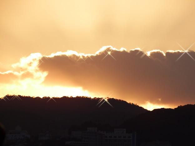 写真: 日の出前