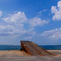 写真: 東京湾をひとっ飛び