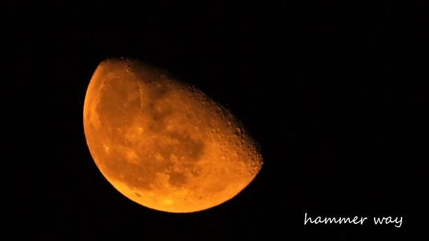 写真: 燃える月