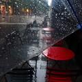写真: 雨のカフェテラス♪