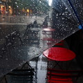 雨のカフェテラス♪