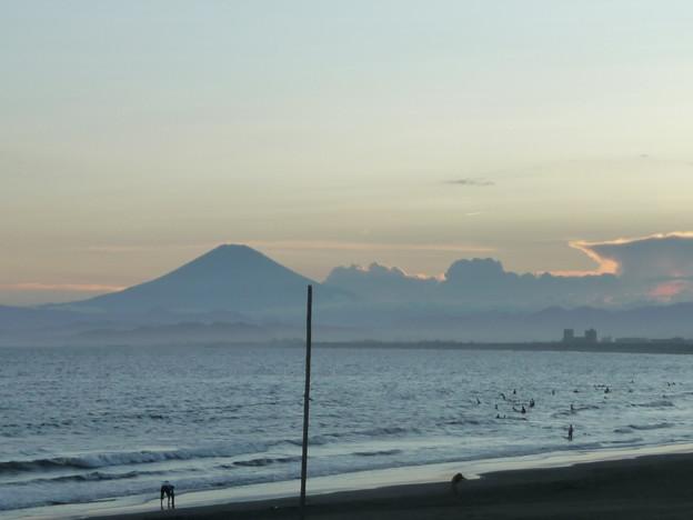 富士山と海
