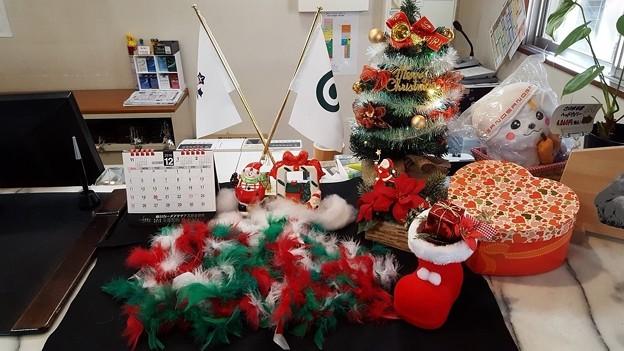 足利カントリークラブ多幸コースフロント前のクリスマス飾り