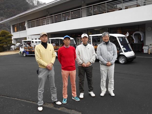 足利城ゴルフ倶楽部をプレーした幹事・親さん・藤さん・ポカリマン