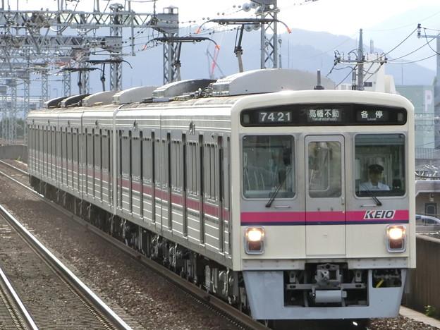 京王7000系(7805F+7421F) 各駅停車高幡不動行き