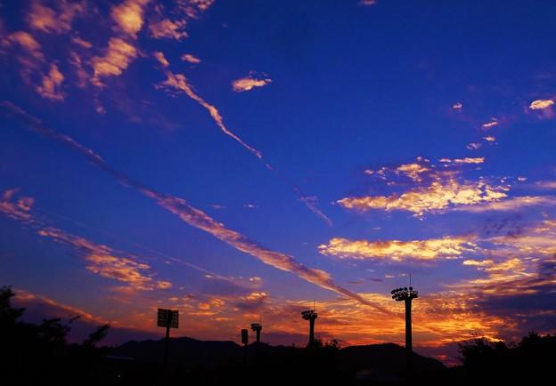 高原の秋の夕暮れ in しまなみ球場の丘