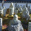 Photos: 行楽の秋を楽しむ 五百羅漢さまたち