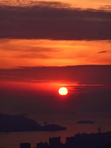 師走の夕陽 in 浄土寺山展望台