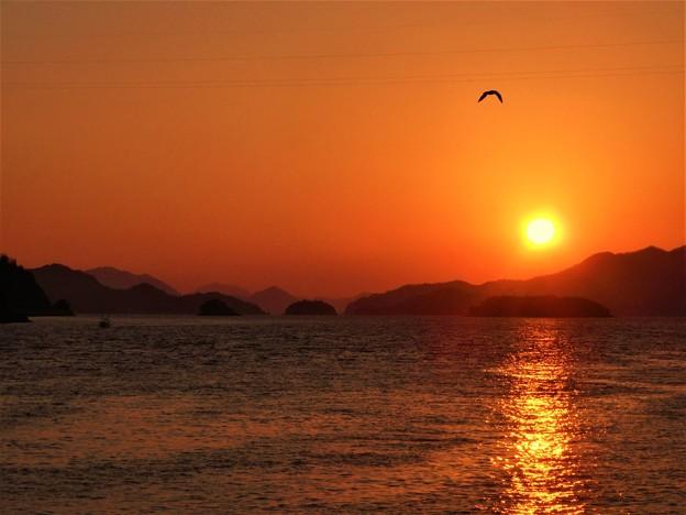 新年(酉年)の瀬戸の夕陽 2017.1.1