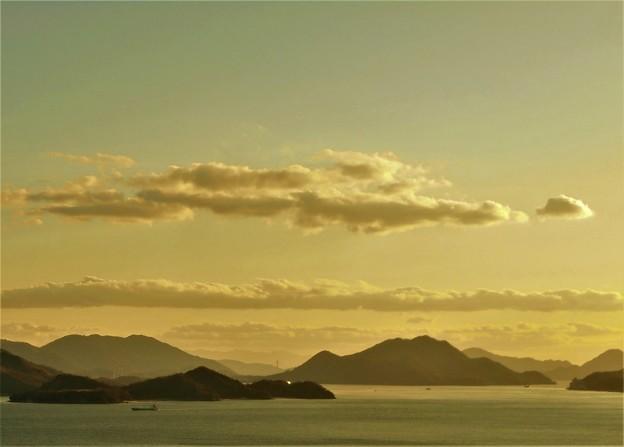 新春の穏やかな海 in 糸崎の丘2017.1.11
