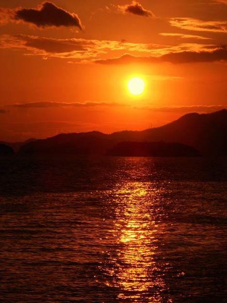 大晦日の瀬戸の夕陽2016.12.31