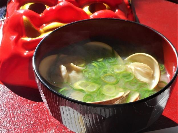 節分 蛤 (はまぐり)のお味噌汁