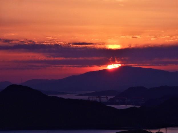 しまなみ海道の夕刻 in 高見山展望台
