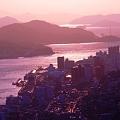 セピア色に染まる街~師走の海~