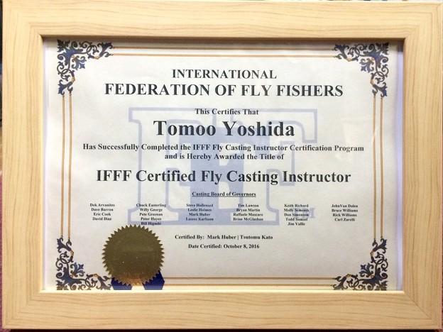 フライフィッシングのキャスティングインストラクターの資格を取りました