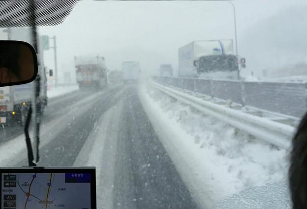 名阪国道 雪