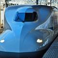 写真: 新幹線に乗って