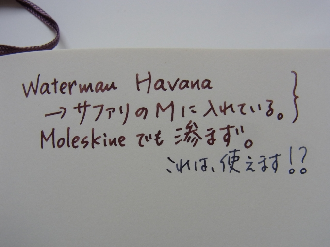 Waterman Havana handwriting 2 (on MOLESKINE)