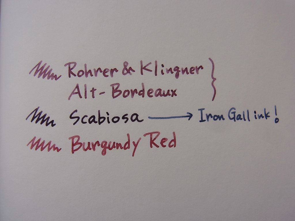 Rohrer & Klingner Alt-Bordeaux handwriting 1