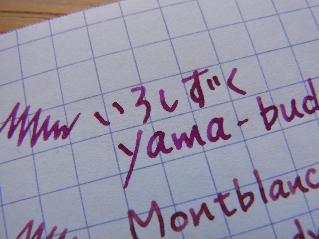 Pilot iroshizuku yama-budo handwriting 3 (zoom)