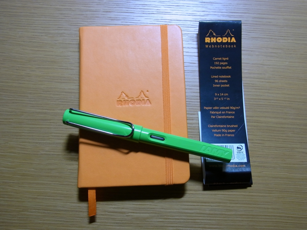 Rhodia Webnotebook - A6 Lined Paper - Orange