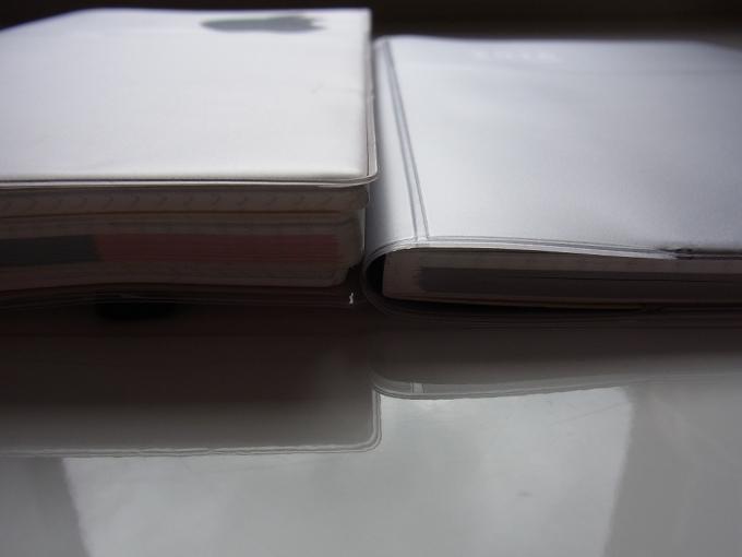 ジブン手帳2015と2016の厚みの差