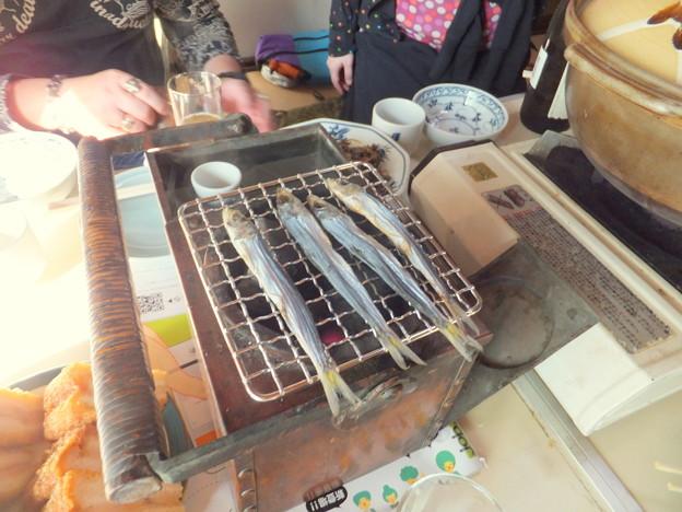 燗銅壺の内蔵火鉢