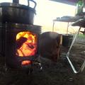Photos: 薪ストーブの火