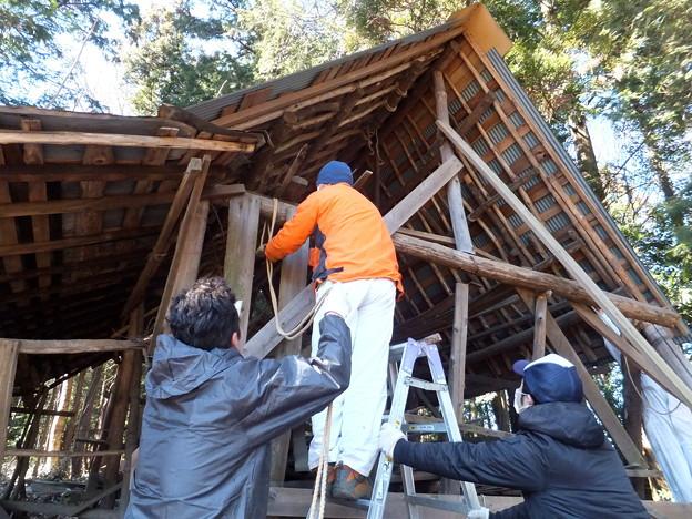 農具小屋の解体1