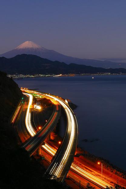 2016年大晦日の富士山