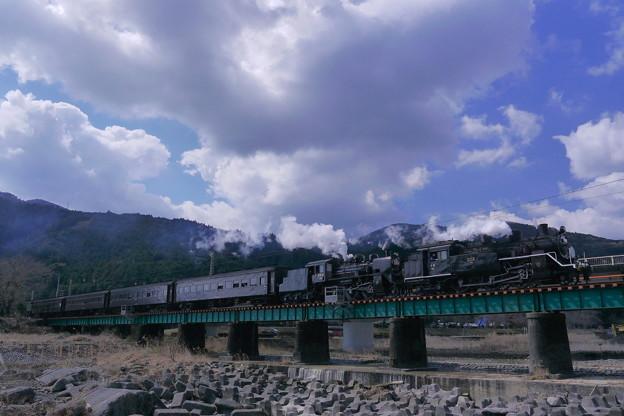 大井川鉄道 C10C56SL重連急行