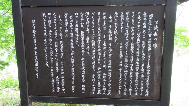 大将陣・大将塚(恵那市営 大将陣公園)至誠の会碑
