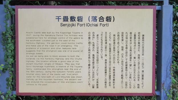 千畳敷砦(恵那市営 千畳敷公園)