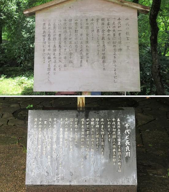 山内一豊と千代婚礼地(岐阜市営 岐阜公園)