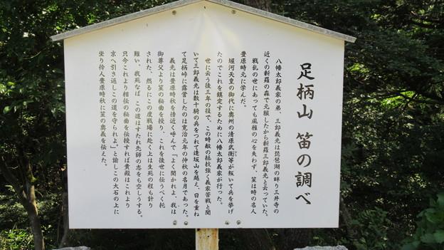 新羅三郎義光 吹笙之石(神奈川県南足柄市・静岡県小山町)