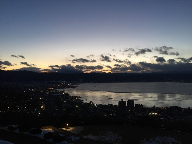 Photos: 17.01.24.17:28 諏訪湖(諏訪市営 立石公園)