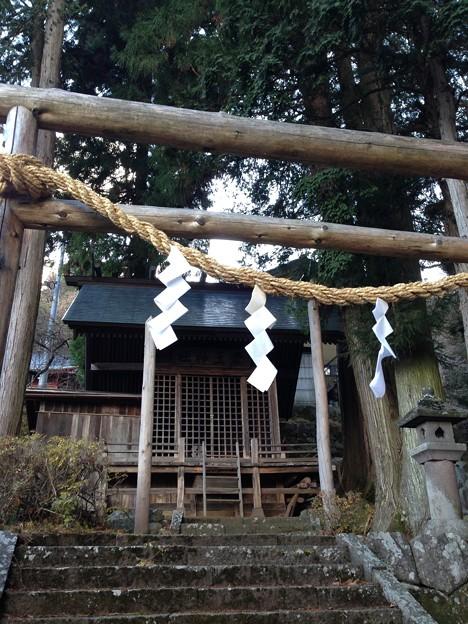 Photos: 13.12.12.法華寺/上社神宮寺跡(諏訪市)霊玉神社
