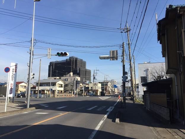 一色氏館(幸手城。幸手市)志手橋南詰。旧旧日光街道。