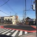 一色氏館(幸手城。幸手市)幸手駅入口交差点。旧旧日光街道北向き。