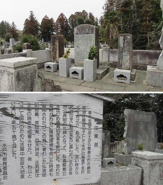 常盤共有墓地(水戸市)藤田東湖墓