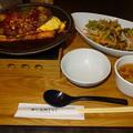 神戸元町ドリア 焼きオムドリアとデミグラスハンバーグ+コンソメ玉子スープ+サラダ