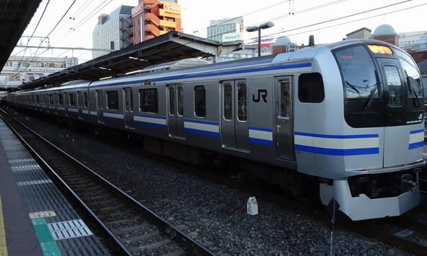 JR東日本横浜支社E217系(師走の津田沼駅にて)