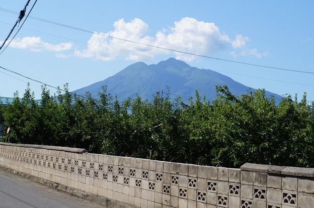 弘前に来てやっと岩木山綺麗に見れたよーo(*^▽^*)o~♪