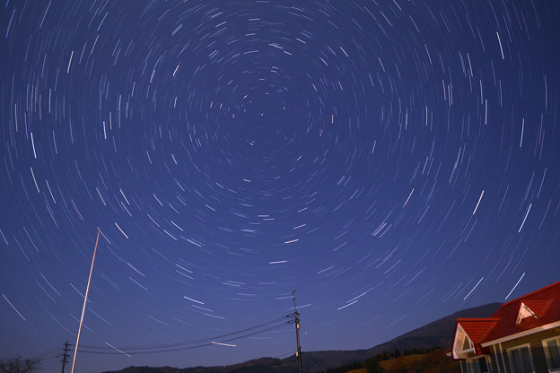 六呂師高原から北の宙を眺める