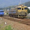 写真: 列車交換。