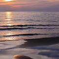 千里浜 穏やかな波